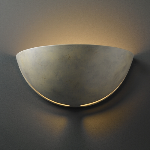 Justice Design Group Sconce Wall Light in Navarro Sand Finish CER-1385-NAVS