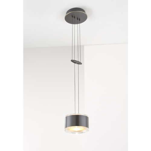 Holtkoetter Lighting Holtkoetter Modern Low Voltage Mini-Pendant Light with White Glass 5701 HBOB GB60