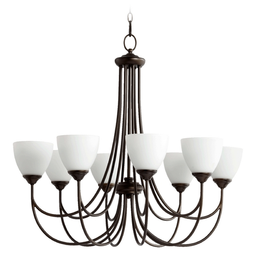 Quorum Lighting Quorum Lighting Brooks Oiled Bronze Chandelier 6050-8-86