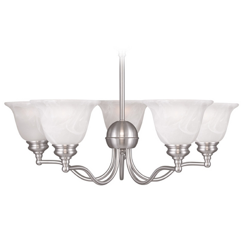 Livex Lighting Livex Lighting Essex Brushed Nickel Chandelier 1345-91