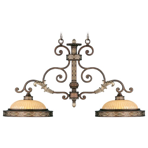 Livex Lighting Livex Lighting Seville Palacial Bronze with Gilded Accents Island Light with Bowl / Dome Shade 8522-64