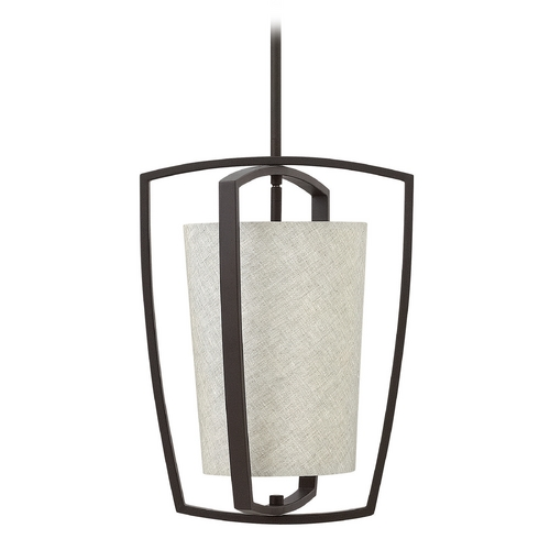 Hinkley Lighting Hinkley Lighting Blakely Buckeye Bronze Pendant Light with Cylindrical Shade 3797KZ
