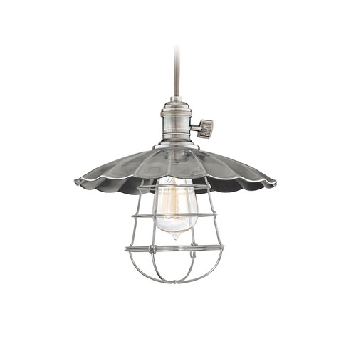 Hudson Valley Lighting Hudson Valley Lighting Heirloom Historic Nickel Pendant Light with Bowl / Dome Shade 8002-HN-MS2-WG