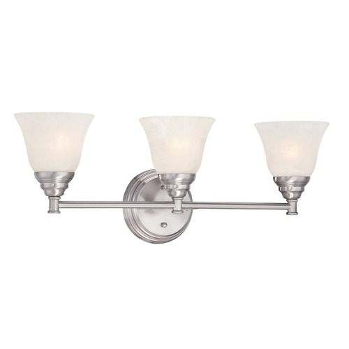 Designers Fountain Lighting Designers Fountain Kendall Satin Platinum Bathroom Light 85103-SP