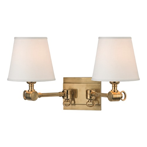 Hudson Valley Lighting Hudson Valley Lighting Hillsdale Aged Brass Sconce 6232-AGB