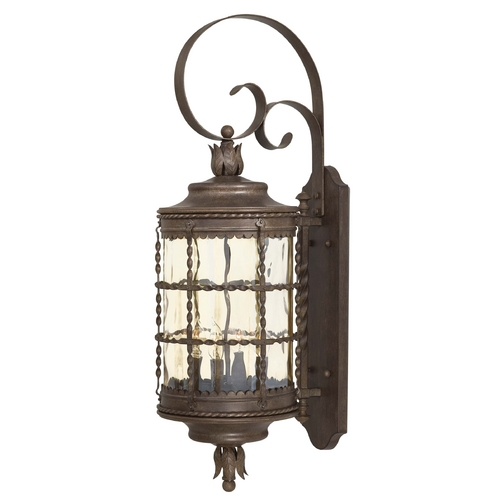 Minka Lavery Outdoor Wall Light with Clear Glass in Vintage Rust Finish 8882-A61