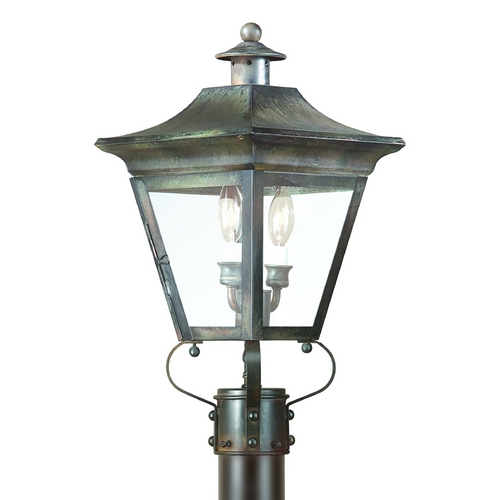 Troy Lighting Post Light with Clear Glass in Charred Iron Finish P8931CI