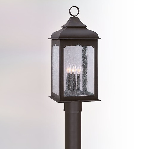 Troy Lighting Post Light with Clear Glass in Colonial Iron Finish P2016CI
