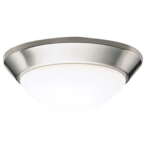 Kichler Lighting Kichler Flushmount Light with White Glass in Brushed Nickel Finish 8880NIFL