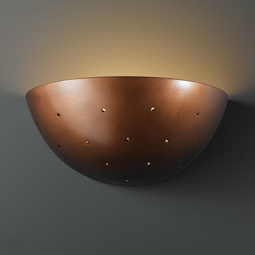 Justice Design Group Sconce Wall Light in Antique Copper Finish CER-1395-ANTC