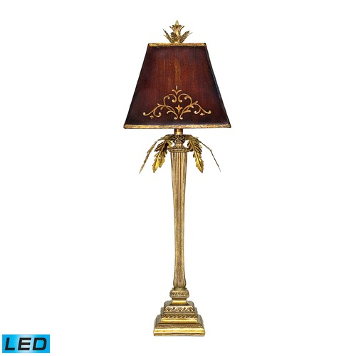 Dimond Lighting Dimond Lighting Gold Leaf LED Table Lamp with Empire Shade 91-078-LED