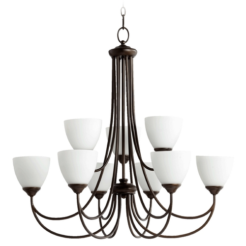 Quorum Lighting Quorum Lighting Brooks Oiled Bronze Chandelier 6050-9-86