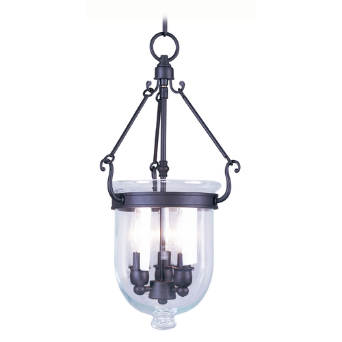 Livex Lighting Livex Lighting Jefferson Bronze Pendant Light with Bowl / Dome Shade 5063-07