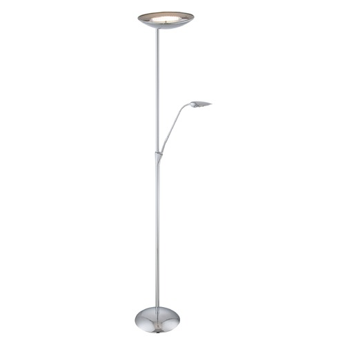 Lite Source Lighting Lite Source Chrome LED Torchiere Lamp with Bowl / Dome Shade LS-82649C