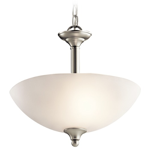 Kichler Lighting Kichler Lighting Jolie Pendant Light with Bowl / Dome Shade 43641NI