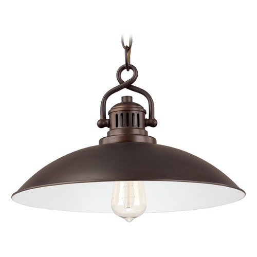 Capital Lighting Capital Lighting Oneill Burnished Bronze Pendant Light with Bowl / Dome Shade 3798BB