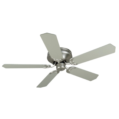 Craftmade Lighting Craftmade Lighting Pro Contemporary Flushmount Brushed Satin Nickel Ceiling Fan Without Light K11001