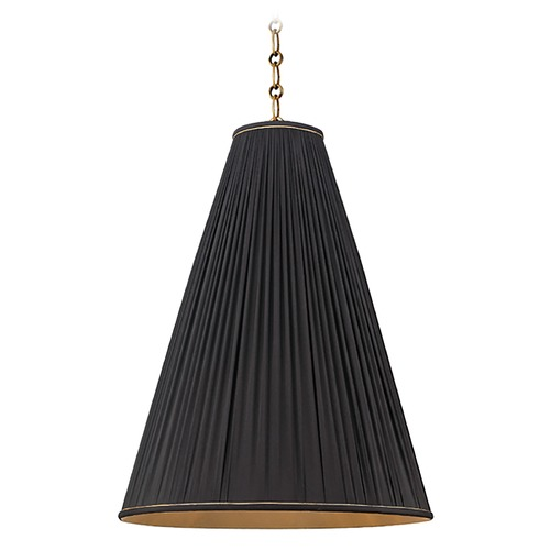 Hudson Valley Lighting Blake 1 Light Pendant Light - Aged Brass 7818-AGB-B