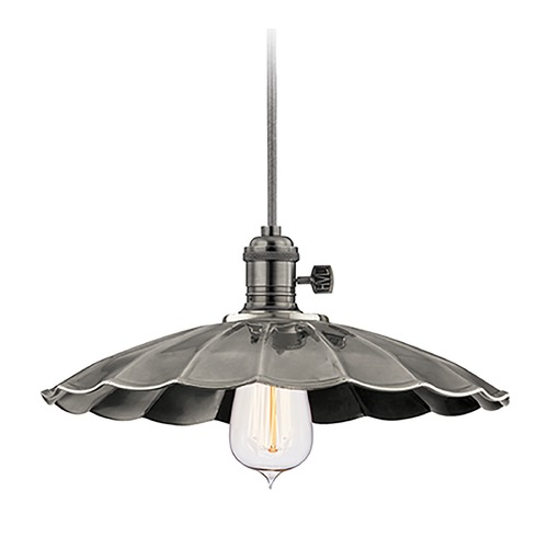 Hudson Valley Lighting Hudson Valley Lighting Heirloom Historic Nickel Pendant Light with Scalloped Shade 8002-HN-MS3