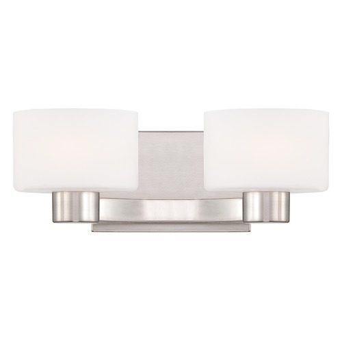 Quoizel Lighting Quoizel Lighting Tatum Brushed Nickel Bathroom Light TU8602BNLED
