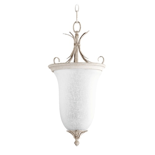 Quorum Lighting Quorum Lighting Flora Persian White Pendant Light with Bell Shade 6872-2-70