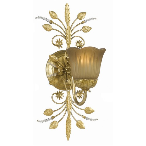 Crystorama Lighting Crystorama Lighting Primrose Gold Leaf Sconce 4741-GL