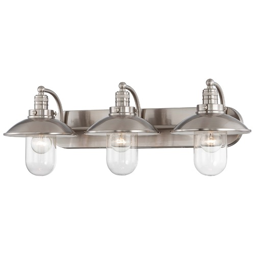 Minka Lavery Downtown Edison Brushed Nickel Bathroom Light 5133-84