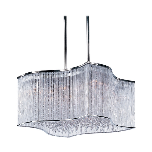 Maxim Lighting Modern Pendant Light with Clear Glass in Polished Chrome Finish 39705CLPC