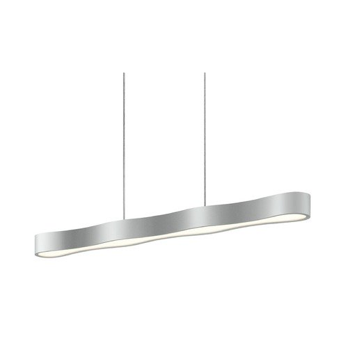 Sonneman Lighting Sonneman Corso Linear Bright Satin Aluminum LED Pendant Light 1734.16