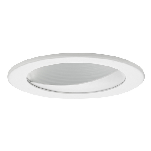 Recesso Lighting by Dolan Designs GU10 White Wall Washer LED Trim for 4-Inch Line and Low Voltage Recessed Cans T404W-WH
