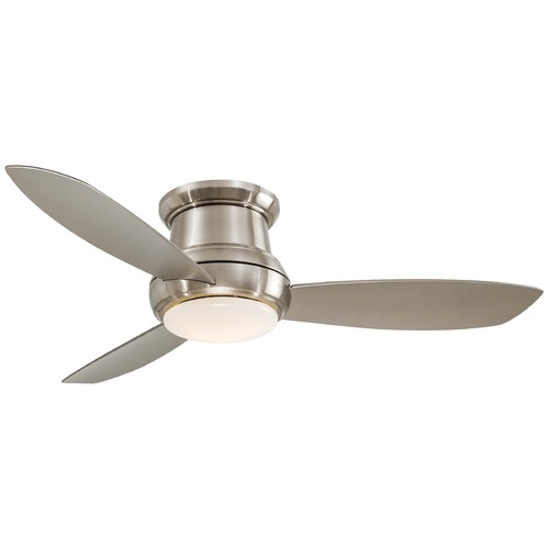 Minka Aire 52-Inch Hugger Ceiling Fan with Three Blades and Light Kit F519-BN