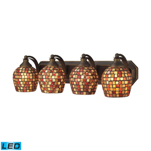 Elk Lighting Elk Lighting Bath and Spa Aged Bronze LED Bathroom Light 570-4B-MLT-LED