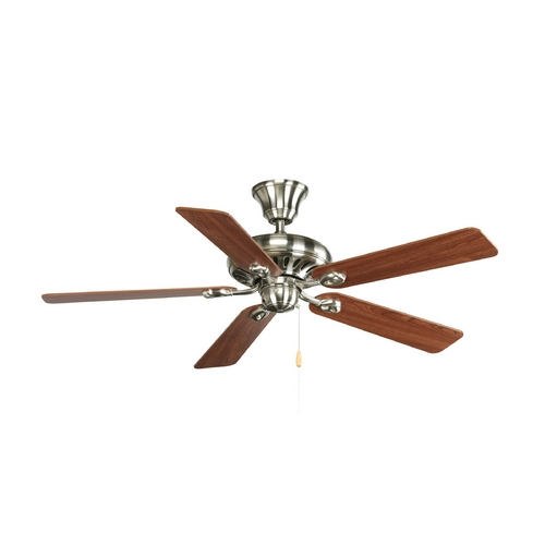 Progress Lighting Progress Ceiling Fan Without Light in Brushed Nickel Finish P2521-09CH