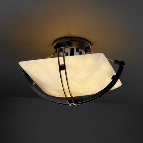 Justice Design Group Justice Design Group Fusion Collection Semi-Flushmount Light FSN-9710-25-DROP-MBLK