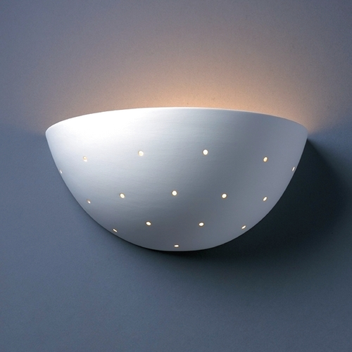Justice Design Group Sconce Wall Light in Bisque Finish CER-1395-BIS