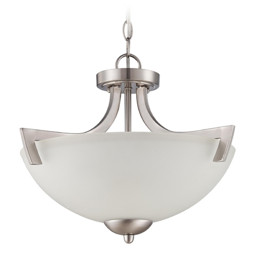 Craftmade Lighting Craftmade Hartford Satin Nickel Convertible Semi-Flushmount 37753-SN