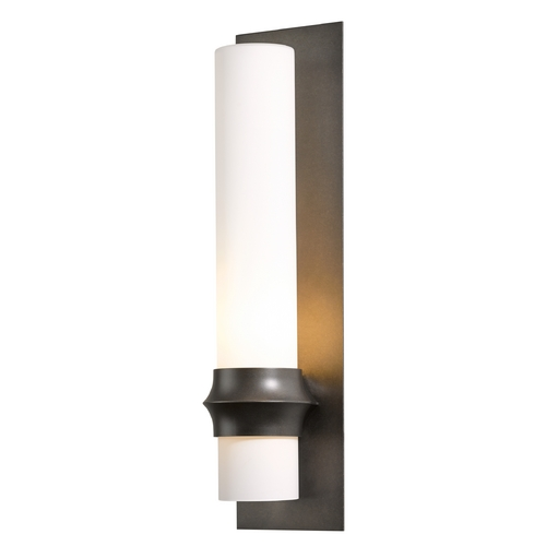 Hubbardton Forge Lighting Hubbardton Forge Lighting Rook Dark Smoke Outdoor Wall Light 304935-07-G319
