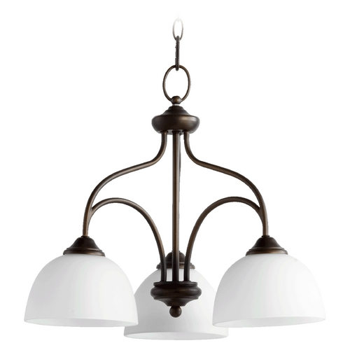 Quorum Lighting Quorum Lighting Brooks Oiled Bronze Chandelier 6450-3-86