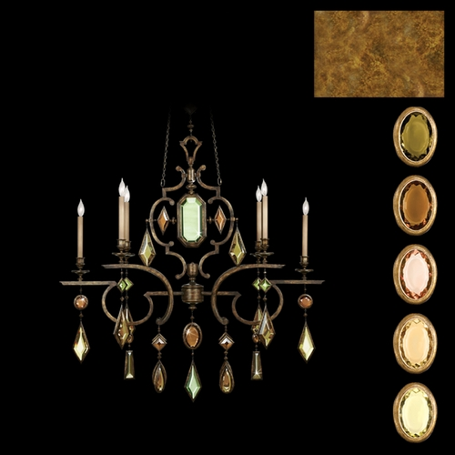 Fine Art Lamps Fine Art Lamps Encased Gems Gold Leaf Crystal Chandelier 726040-1ST