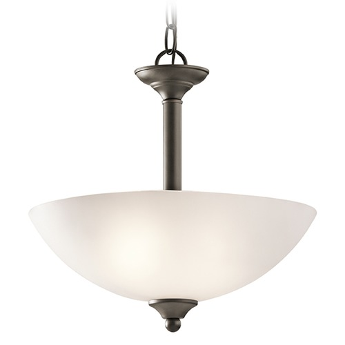 Kichler Lighting Kichler Lighting Jolie Pendant Light with Bowl / Dome Shade 43641OZ