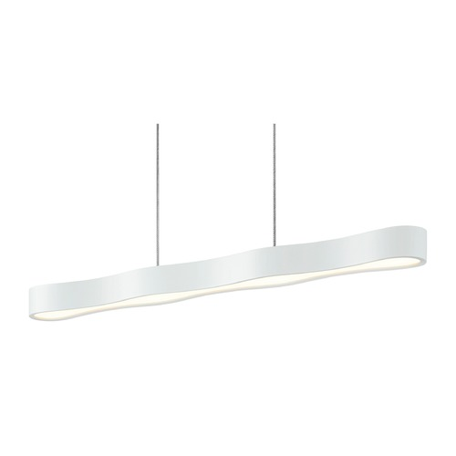 Sonneman Lighting Sonneman Corso Linear Textured White LED Pendant Light 1734.98
