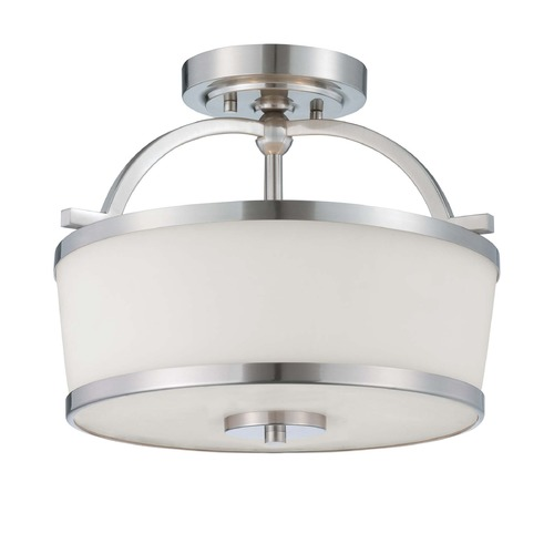 Savoy House Savoy House Satin Nickel Semi-Flushmount Light 6-4382-2-SN