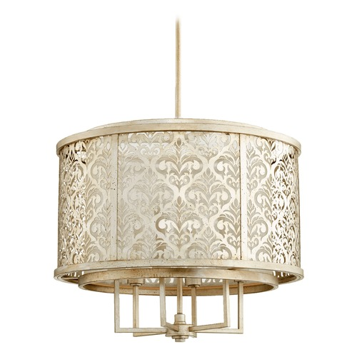 Quorum Lighting Quorum Lighting Bastille Aged Silver Leaf Pendant Light 6875-6-60