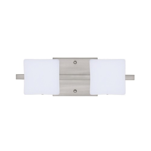 Besa Lighting Besa Lighting Alex Satin Nickel LED Bathroom Light 2WS-773507-LED-SN