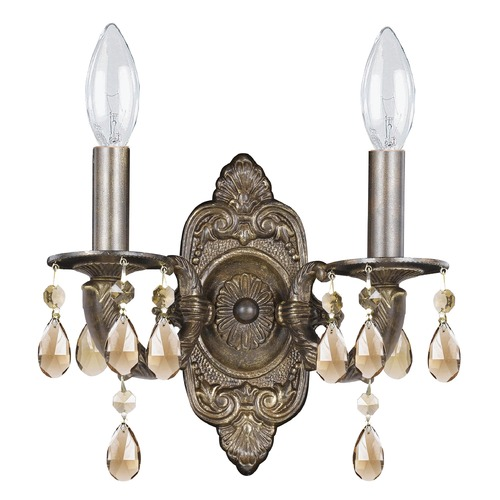 Crystorama Lighting Crystorama Lighting Paris Market Venetian Bronze Sconce 5022-VB-GT-MWP