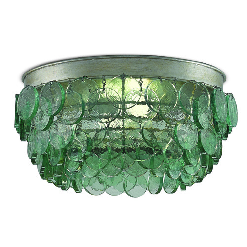 Currey and Company Lighting Currey and Company Braithwell Silver Leaf Flushmount Light 9999-0013