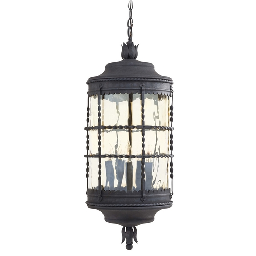 Minka Lavery Outdoor Hanging Light with Clear Glass in Spanish Iron Finish 8884-A39