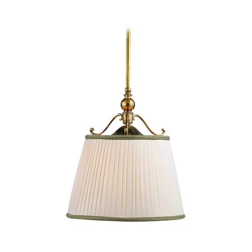 Hudson Valley Lighting Drum Pendant Light with White Shade in Historic Nickel Finish 7711-HN