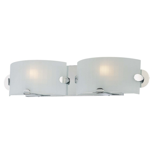 George Kovacs Lighting Modern Bathroom Light with White Glass in Chrome Finish P5252-077