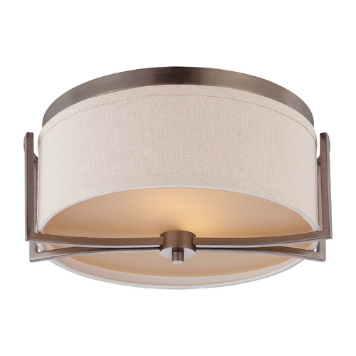 Nuvo Lighting Modern Flushmount Lights in Hazel Bronze Finish 60/4861